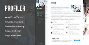 Wordpress Resume Theme Resume Theme Miscellaneous Personal Resume