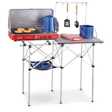 Camping Kitchen Guide Gear Compact Camp Kitchen 581525 Tables At Sportsmans Guide