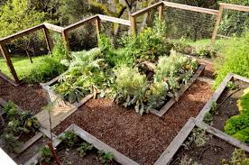 gorgeous garden fence ideas at hillside terrace with deer fence and wood raised bed vegetables for