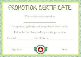 Promotion Certificate Template Promotion Certificate Template 20 Free Templates For Students
