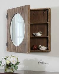 Rustic Medicine Cabinet With Mirror Cool Rustic Bathroom Ideas For Your Home