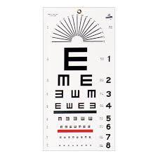 E Chart Test Wall Mount Eye Test Chart Illiterate Tumbling E