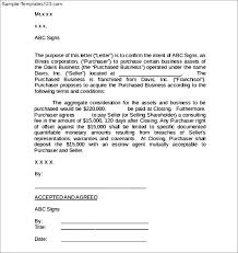 business purchase agreement letter sample templates hjgtwmdf business agreement sample letter