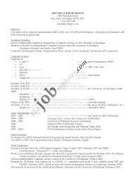 Sample Resume For Recent College Graduate Free Resume Example