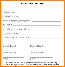 Vehicle Bill Of Sell Bill Of Sales Dmv Rome Fontanacountryinn Com