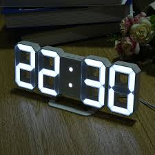 8 shaped led display digital table clocks thermometer hygrometer creative table desktop clock 215 x 25