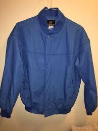 Mens Haband Jacket Light Weight Zip Blue Mens Coat Size M