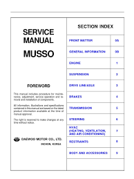 Service Manual Musso | Internal Combustion Engine | Leak