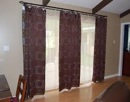 brown patio door curtain