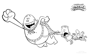 Captain Underpants Coloring Pt9f Free Printable Captain Underpants