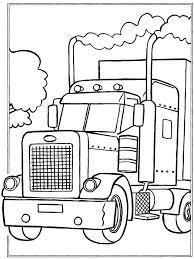 Vrachtauto Trailer Volvo Kleurplaat Kleurplaten Vrachtwagens Volvo