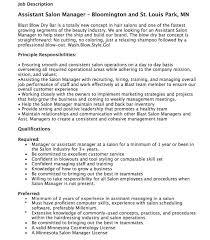 Easy Tanning Salon Job Description Assistant Manager Http