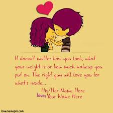 Cute Love Quotes For Her Mesmerizing Write Couple Name On Sweet Cutest Love Quotes For Her Image For