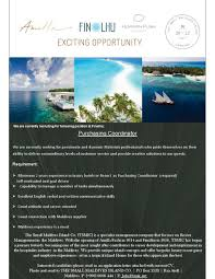 Purchasing Coordinator Job Vacancy At Finolhu Resort Maldives