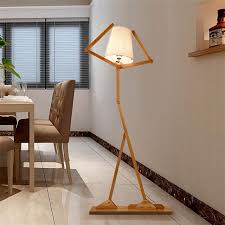 living room floor lamp. nordic creative wooden floor lamps e27 log fabric stand light living room bedside piano reading lamp