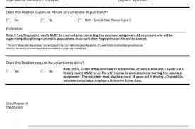 Work Description Form Sample Volunteer Job Description Form City Of Roseville