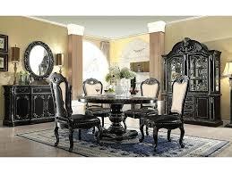 gothic dining table round dark ebony gold dining table set gothic dining room chairs