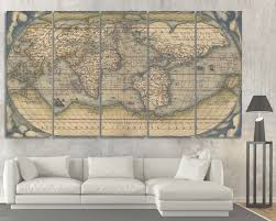 large vintage wall art old world map at texelprintart view 18 of 45