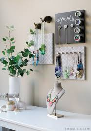 Hanging Necklace Organizer Diy Hanging Jewelry Organizer The Blissful Bee