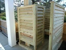 outdoor shower enclosure plans outside wood designs ideas and decors convert show vinyl desi outdoor shower enclosure s reviews plans