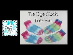 craft life jacy and kacy diy tie dye sock tutorial