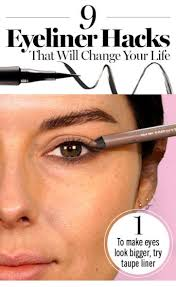 use taupe colored eyeliner to open up your eyes