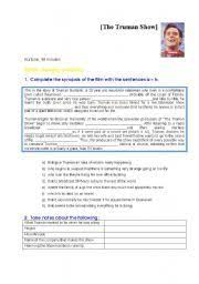 best english year images year the truman english worksheet the truman show