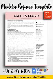 Modern Resume Template Google Docs Modern Resume Template Caitlin Lloyd Resume Templates For