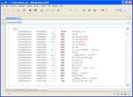 ARM DS-5 Using Eclipse: ELF content editor - Disassembly tab