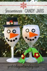 Decorated Candy Jars Best of the Weekend Snowman Jar and Christmas gifts 54
