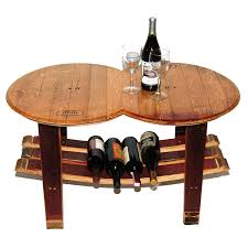 ... Coffee Table, Latest Brown Round Industrial Wine Barrel Coffee Table  With Storage Designs Which Can ...