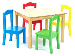 childrens table and chairs kid table and chair set farm friends kids table chair set regarding