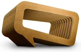 Corrugated Cardboard Furniture Coffee Table Cant Afford Mahogany Furniture Try Cardboard