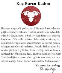 """Karma Astrolog Jale op Twitter: """"KOÇ BURCU KADINI #jalemuratoğlu #koçburcu # koç #burçlar #burç #astrology #astrologyposts #zodiacsigns #follow #zodiac  #günlükburçyorumu #günlükburç #koçkadını #astroloji #astrolog #gezegen…  https://t.co/WaMebb3LrL"""""""