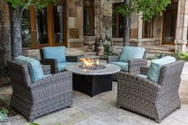 fire pit furniture. Delighful Pit Bainbridge Wicker Club Chairs With Fire Table  Canvas Spa Cushions And Pit Furniture E