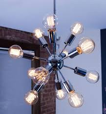 graceful edison bulb chandelier 24 sputnik