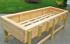 This is an elevated, raised bed, at a 30