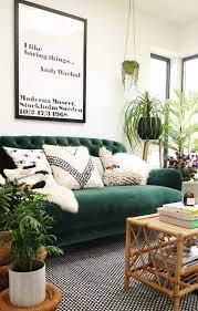 boho style the green velvet sofa 20