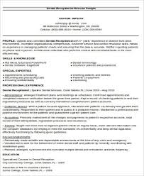 Dental Receptionist Resume Objective Receptionist Resume Objective 100 Examples in Word PDF 68