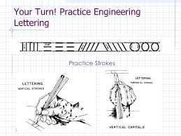 engineering drawing engineering lettering lesson 3