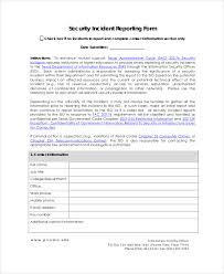 Accident Report Form Template Uk 17 Sample Incident Report Templates