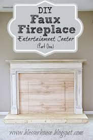 Build A Fake Fireplace Diy Faux Fireplace Entertainment Center Part One Blesser House