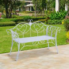 new garden metal bench 2 seater rustic vintage outdoor chair patio park loveseat patio chairs t58 chairs