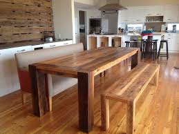 solid wood dining table. Pretty Solid Real Wood Dining Table With Bench O