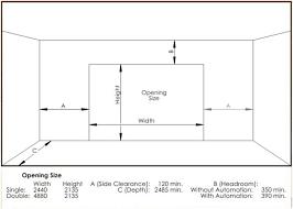 garage door sizeGarage Fabulous standard garage door sizes ideas Commercial Roll