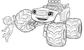 Blaze Coloring Pages Free Incredible And The Monster Machines 5