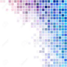 Square Corner Design Blue And Colorful Square Mosaic Corner Background Design