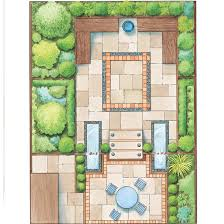 garden design plans.  Plans Creating A Twolevel Garden Linked By Steps And Flanked Splitlevel  Pools Fed With Waterfalls Gives The Space More Interest The Design Is Bordered  To Garden Design Plans