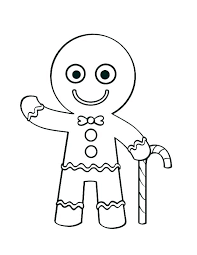 Gingerbread Man Coloring Booklet Story Book Printable Cookie Small
