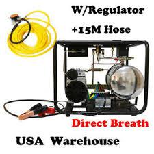 Details About Direct Breath 12v Scuba Diving Pump Hookah Compressor W Hose Regulator Auto Stop
